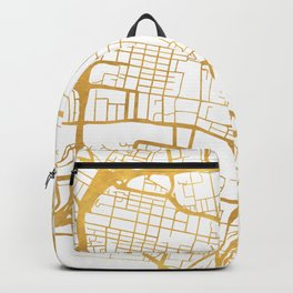 GLASGOW SCOTLAND CITY STREET MAP ART Backpack
