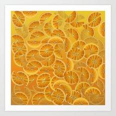 Orange Slices and Juice Art Print
