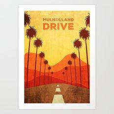 Mulholland Drive Alternative Poster Art Print