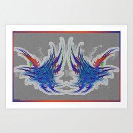 Frakblot Frequency Art Print