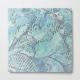 Seashell Suburbia - Watercolor & Ink  Metal Print