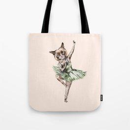 Siamese Ballerina in Cat Ballet  Tote Bag