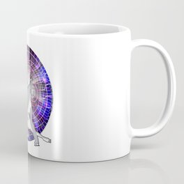 Ice Dancers in Colorful Circular Strobe Light Background Coffee Mug