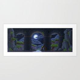 Pixel Place - Ravine Art Print