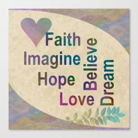 inspirational Canvas Prints featuring Inspirational by LLL Creations