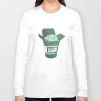 pasta Long Sleeve T-shirts featuring Pasta Pudding by Luna Aldrin