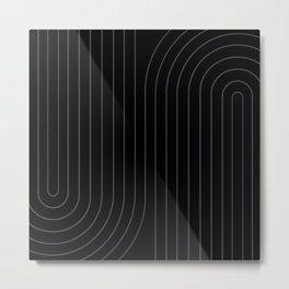 Minimal Line Curvature XXVI Metal Print