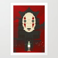 spirited away Art Prints featuring Spirited by Danny Haas
