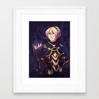fire emblem Framed Art Prints featuring Fire Emblem Fates Leon by Cycha