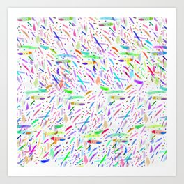 Modern colorful watercolor abstract brushstokes Art Print