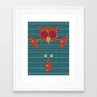 ezra koenig Framed Art Prints featuring Ezra by Brandon Autry