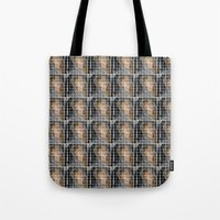lindsay lohan Tote Bags featuring Lohan by Rude Lewd & Crude