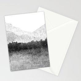 Design 116 Grey Mosaic Landscape Stationery Cards