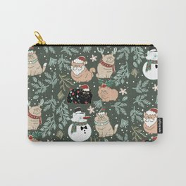 Christmas Persian Cats Carry-All Pouch