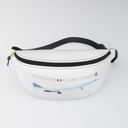 Concorde Turbojet-powered Supersonic Airliner Fanny Pack