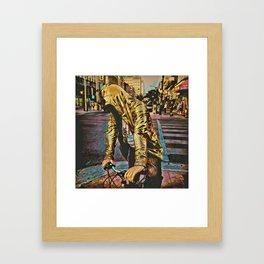 Golden Rider Framed Art Print