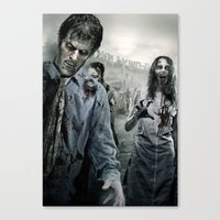 walking dead Canvas Prints featuring Zombie by Joe Roberts