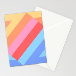 Matted Pastel Rainbow Layered Stationery Cards