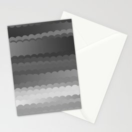 Gray Waves Stationery Cards