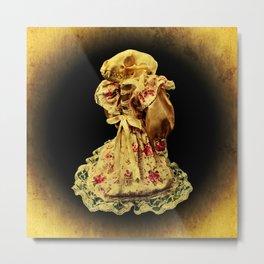Horror In a Dress! Skull Doll Halloween Part 1 Metal Print