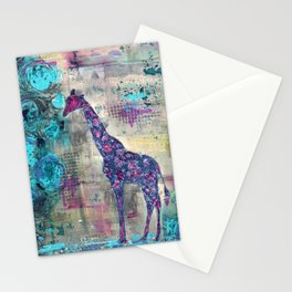 Majestic Series: Giraffe having a berry Stationery Cards