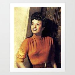 Jean Peters, Vintage Actress Art Print