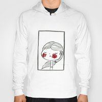 blush Hoodies featuring portrait (blush) by woollover