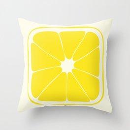 Square Lemon Throw Pillow