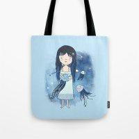 medusa Tote Bags featuring Medusa by Kristina Sabaite