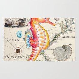 Red Seahorse Sea Rug