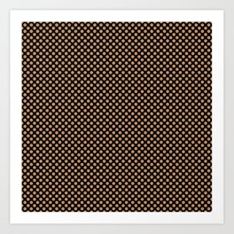 Black and Butterum Polka Dots Art Print