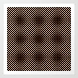 Black and Butterum Polka Dots Art Print