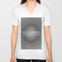 1984 V-neck T-shirts featuring 1984 by Gianne DJ