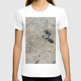 Abstract vintage black gray ivory marble T-shirt