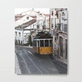 Yellow Tram Metal Print