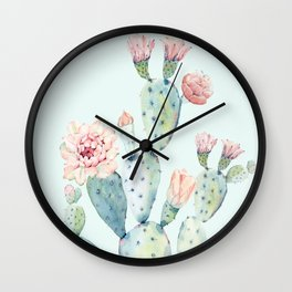 Cactus 2 #society6 #buyart Wall Clock