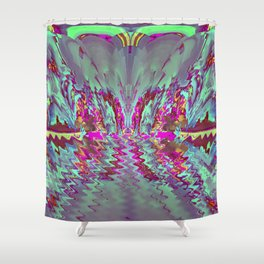 Decorative wave ... Shower Curtain