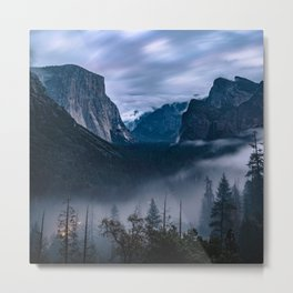 Fog Descends On Yosemite Metal Print