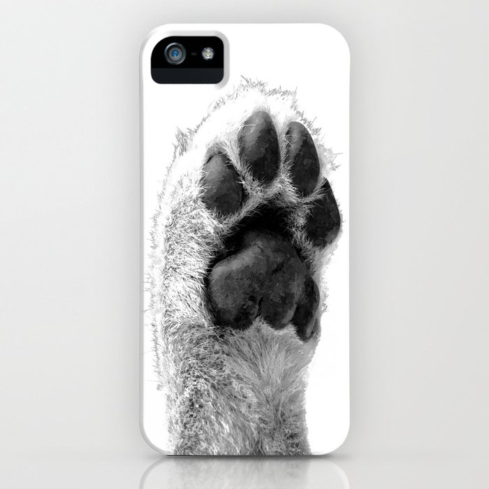 Black and White Dog Paw iPhone Case