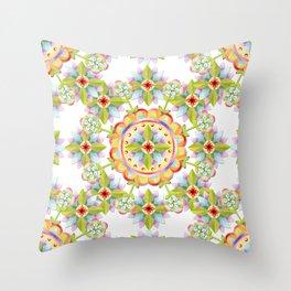 Starflower Blossoms Throw Pillow