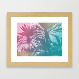 Rainbow Palm Trees Framed Art Print
