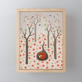 Sleeping Fox Framed Mini Art Print