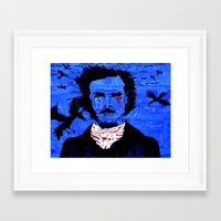 edgar allen poe Framed Art Prints featuring Edgar Allen Poe by Pluto00Art / Robin Brennan