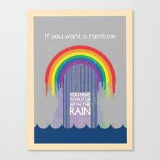 Rainbow Needs Rain Canvas Print