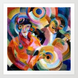 Flamenco singer by Sonia Delaunay Art Print