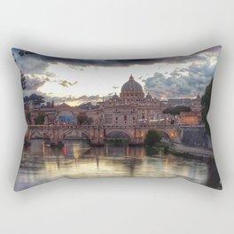 Incredible Sky with Sunset over St Peter, Vatican Rome Rectangular Pillow