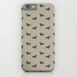 Minimalist Dachshund Pattern iPhone Case