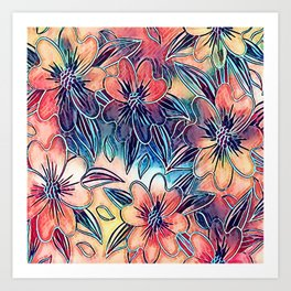 Abstract Blooms Art Print