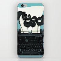 typewriter iPhone & iPod Skins featuring Typewriter by Felix Hornoiu