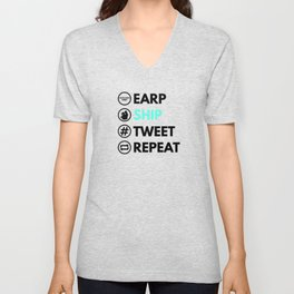 Earp Ship Tweet Repeat (Black) inspired by Wynonna Earp Unisex V-Neck